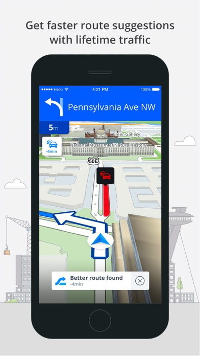 Screenshot #8 for Sygic North America: GPS Navigation, Offline Maps