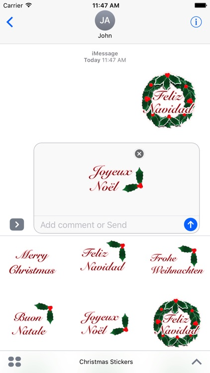 Happy Christmas Stickers screenshot-3