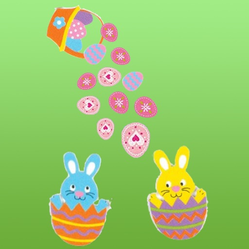 Many Eggs Much Lucky in Easter Sticker