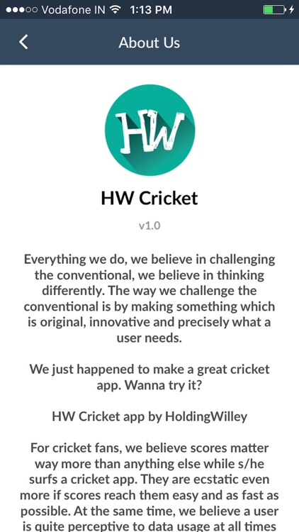 Fast cricket scores HW Cricket