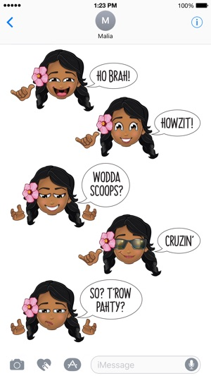 Animated Hawai'i Pidginmoji - Wahine Screenshot