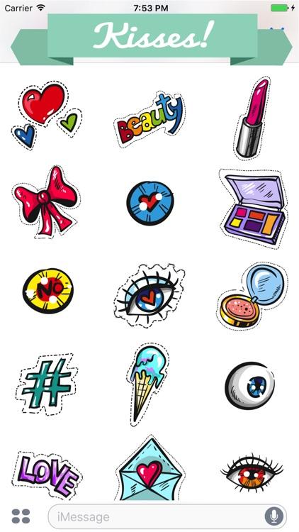 Kisses Stickers for Messaging