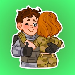 Heroic Soldiers Life Stickers