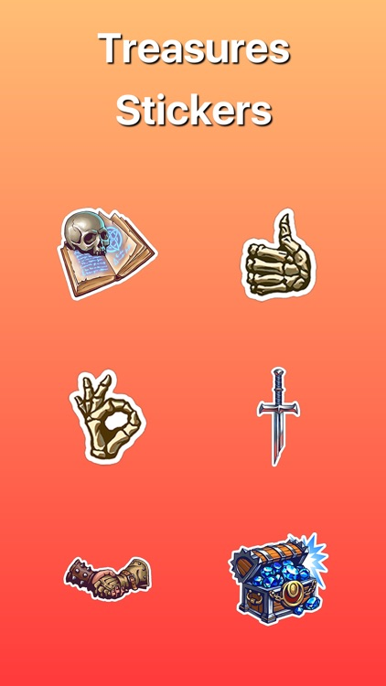 Treasures and Dragons Stickers