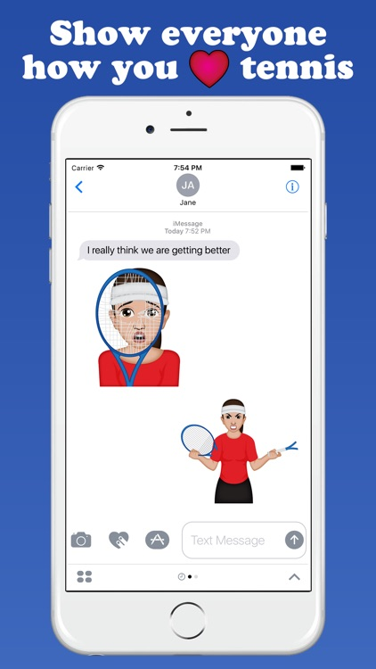 TennisMoji - Tennis Emoji Keyboard screenshot-2