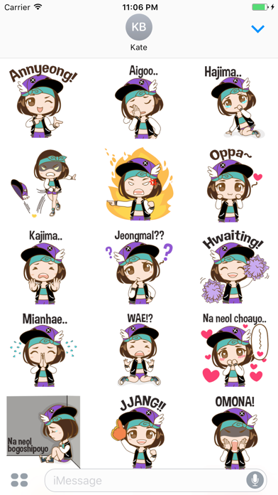 Daisy The Stylish Chibi Girl Stickers