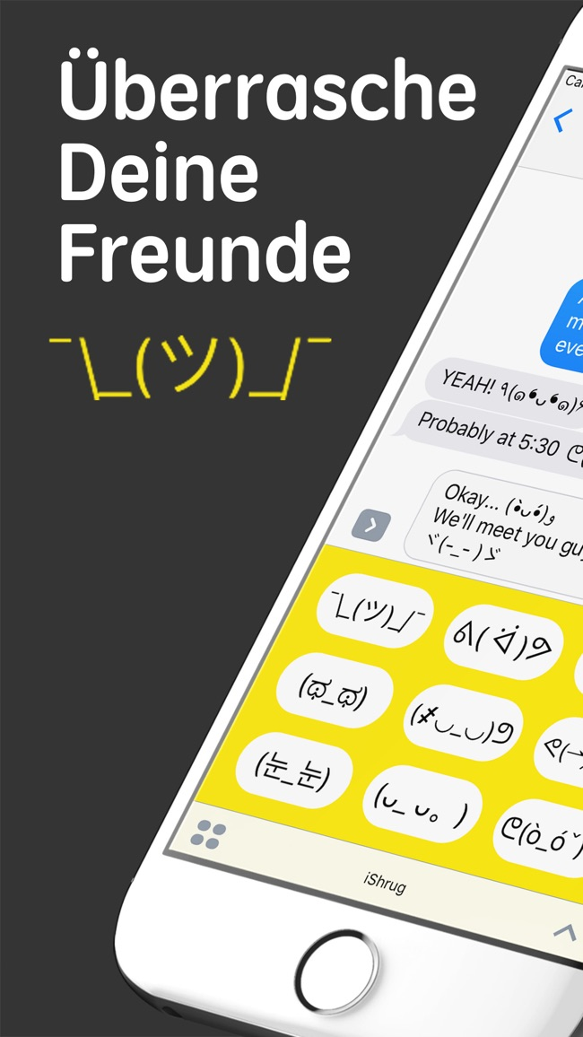 iShrug: Textemoji für  iMessage Screenshot