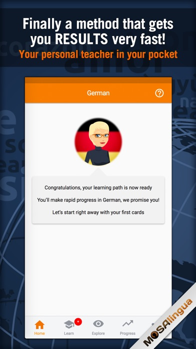 Learn German: MosaLingua Screenshots