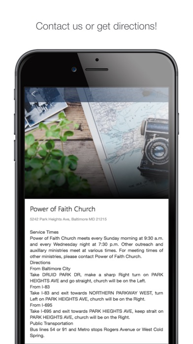 Image of Power of Faith Baltimore for iPhone
