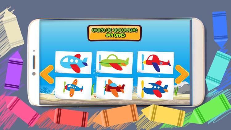 Libro de Colorear - Aviones para niños by GYO Solutions SA de CV