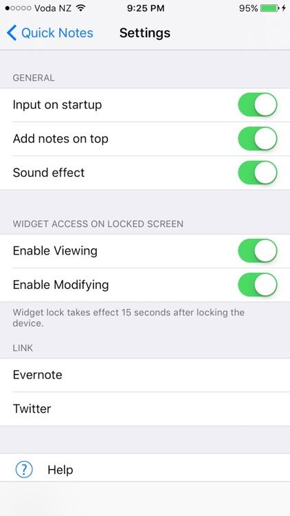 Quick Notes Widget screenshot-3