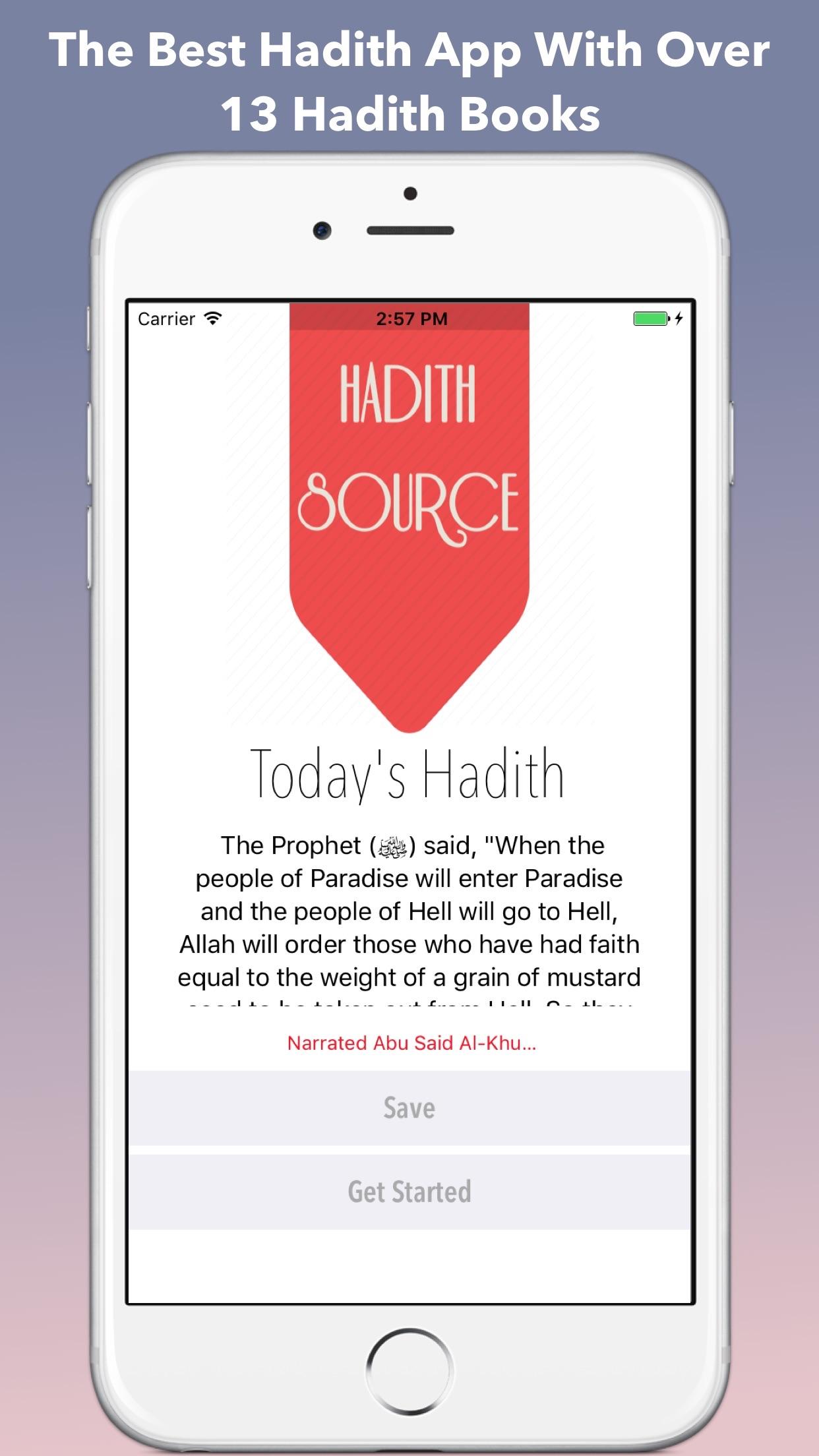 Hadith Source Pro - Sahih Al Bukhari & Muslim Screenshot