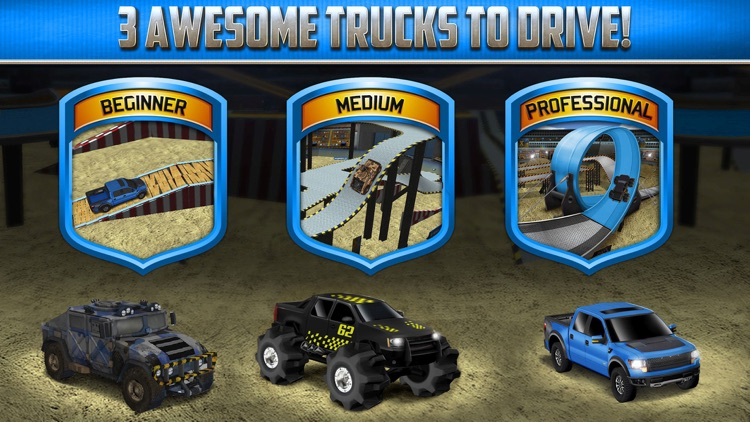 Monster Truck Parking Game Real Car Racing Games screenshot-4