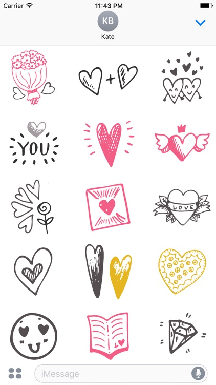 LOVe DOODLe Stickers for iMessage screenshot-3