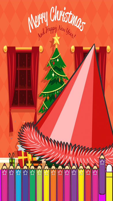 Happy New Year Coloring for kids Holiday Games screenshot two