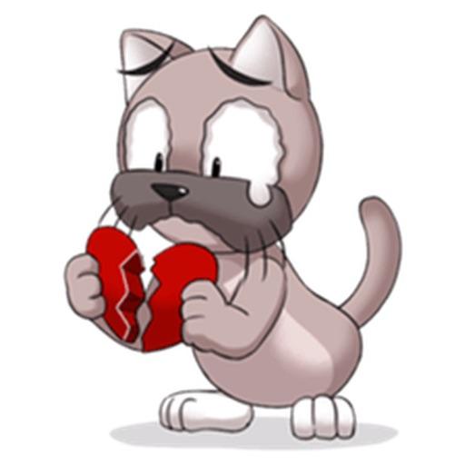 Lovesick Cat Stickers