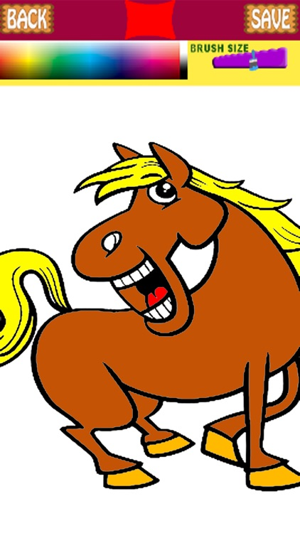 Horse coloring book pages | 750x422