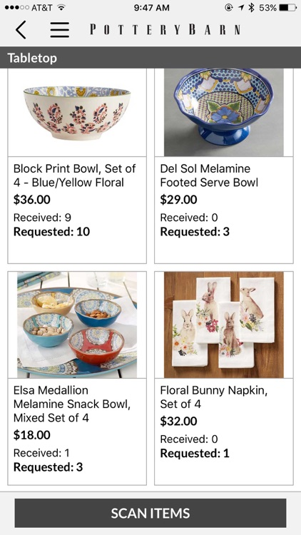 Pottery Barn Wedding Registry screenshot-4