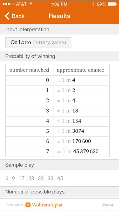 Wolfram Gaming Odds Reference Appのおすすめ画像5