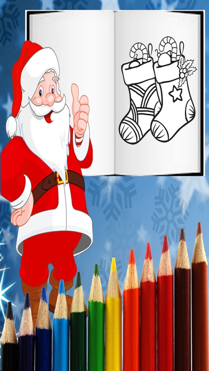 Christmas Santa Coloring Pages -Kids Coloring Book screenshot-4