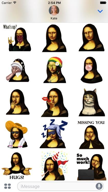 Mona Lisa Emoji screenshot-3