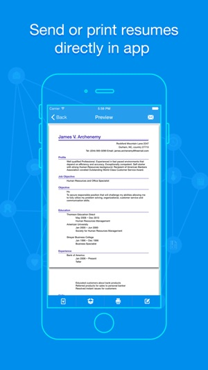 Quick Resume Pro Resumes Builder and Designer on the App Store