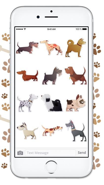 Funny Cartoon Dog Sticker Pack screenshot-3