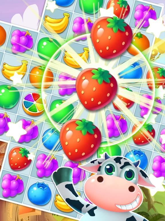 Fruit Yummy Pop - Garden Drop Match 3 Puzzle screenshot 4