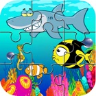 sea creatures huge jigsaw puzzle games icon