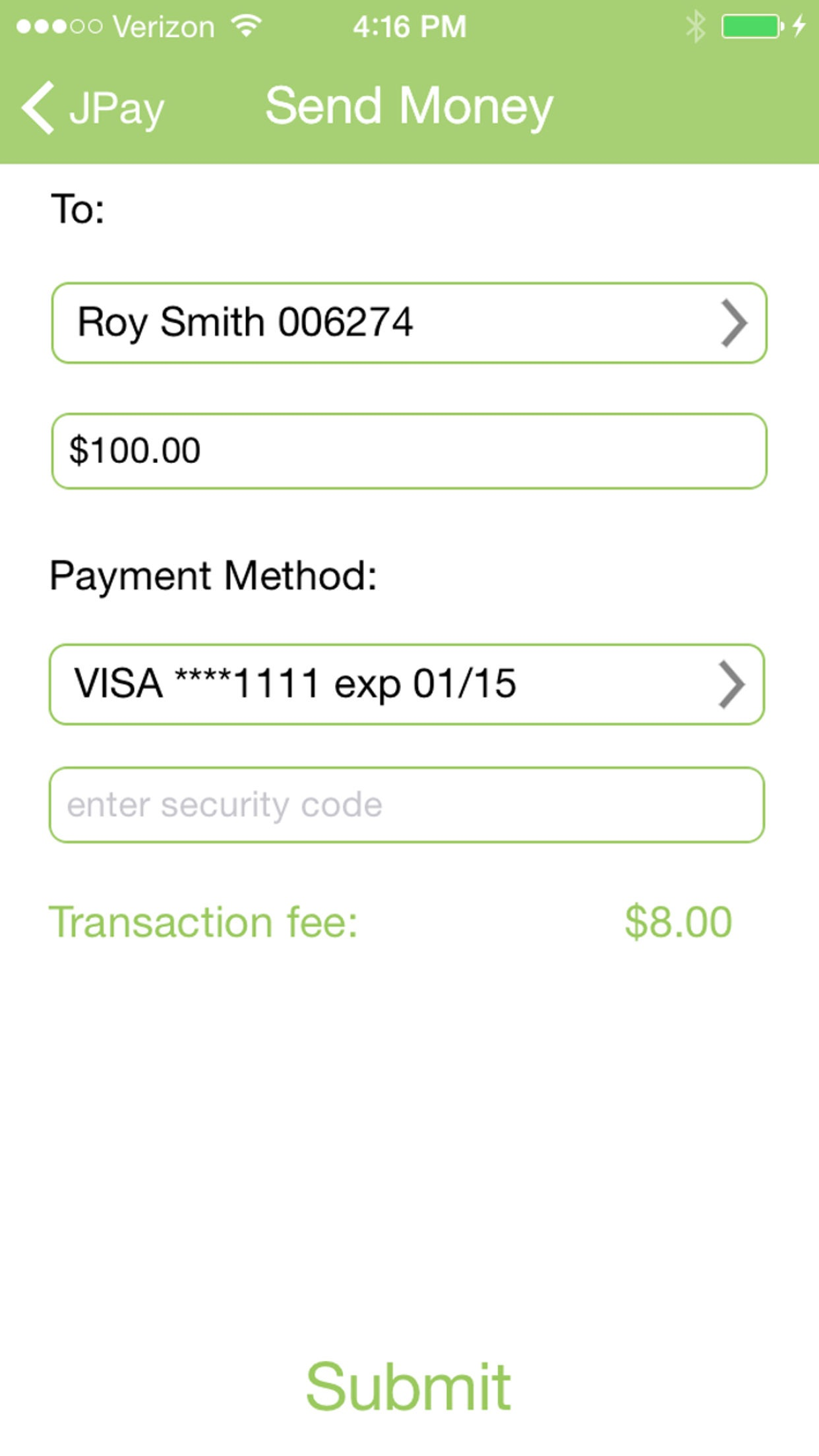 JPay Screenshot