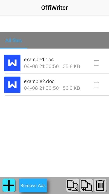 OffiWriter document editor with OpenOffice writer screenshot-3