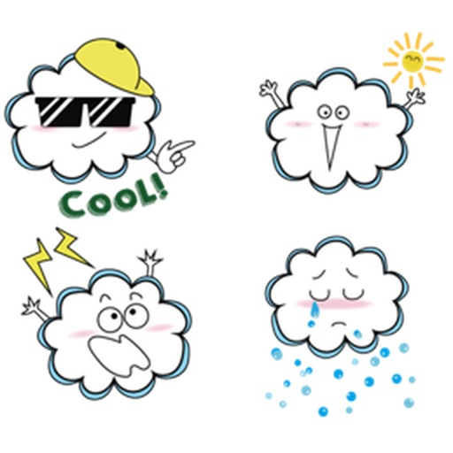 Funny Cloud Emoji Sticker