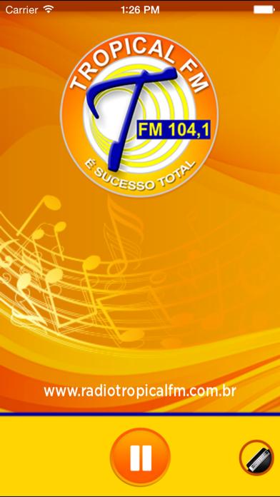 Rádio Tropical FM 104.1 - Araras/SP screenshot one