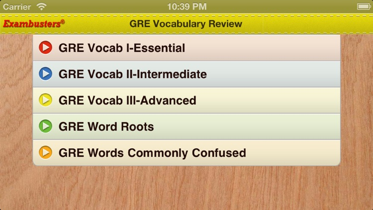 GRE Prep Verbal Flashcards Vocabulary Exambusters