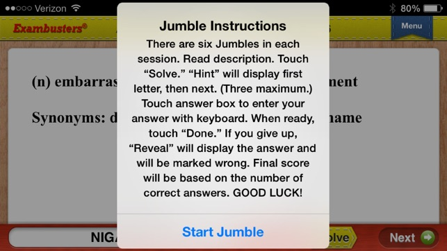 English Vocabulary Flashcards Exambusters on the App Store