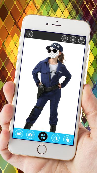 Kids Police Uniform Photo Montage screenshot three