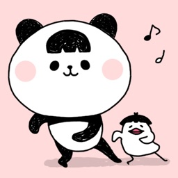 Funny Chubby Panda - Animated Sticker
