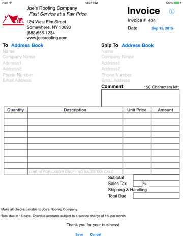 Screenshot of Simple Invoices - Sales