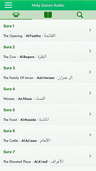 Quran Audio in Arabic, English screenshot one