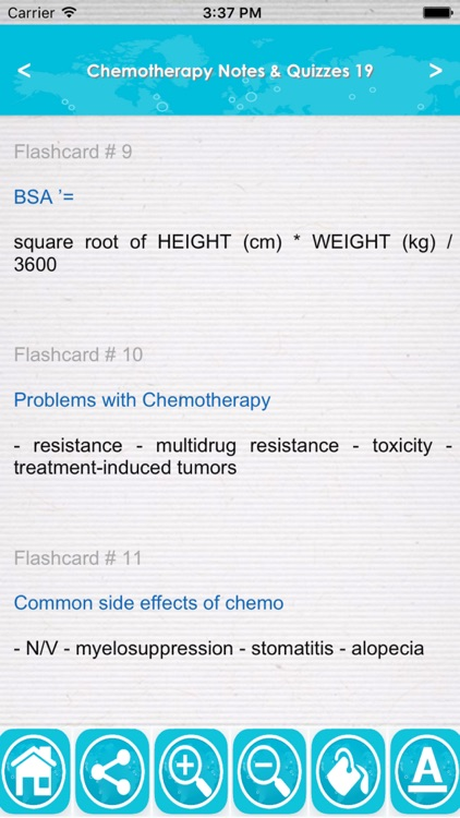 Chemotherapy Exam Review App