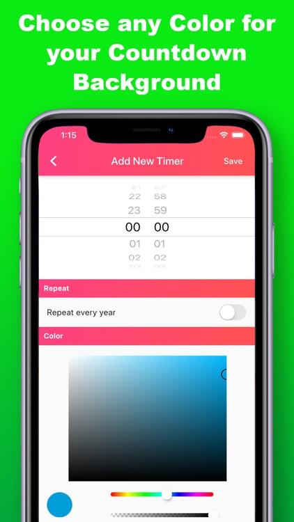 Countdown Timer & Reminder screenshot-3