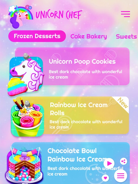 Unicorn Chef Fun Cooking Games screenshot