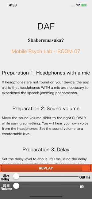 DAF Delayed Auditory Feedback on the App Store