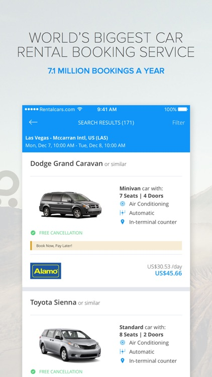 Rentalcars.com Car rental App screenshot-3