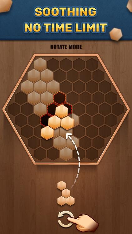 Wooden 100 Block - Hexa Puzzle screenshot-3