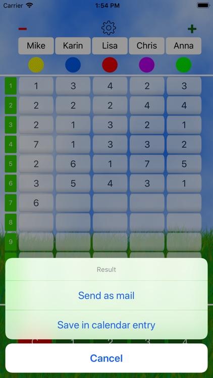 Mini Golf Score Card