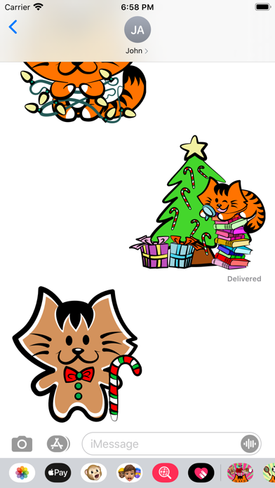Kikimoji Christmas Love screenshot 5