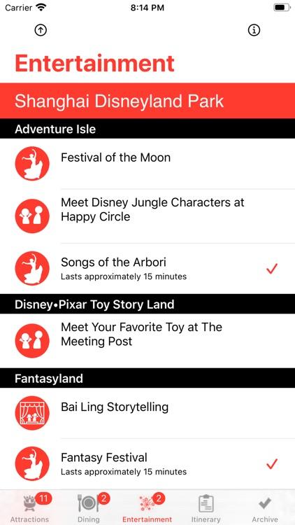 Theme Park Checklist: Shanghai