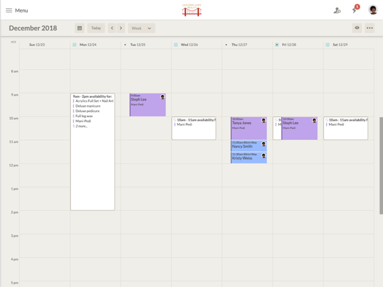 Visibook   Appointment scheduling app and software. Simple online booking and calendar. screenshot