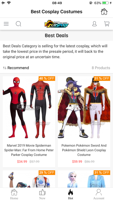EZCosplay Costumes screenshot 4